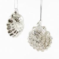 Sea Scallop Mercury Glass Ornament