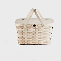 Two Pie Picnic Basket White Ash