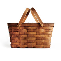Two Pie Picnic Basket Honey Colour