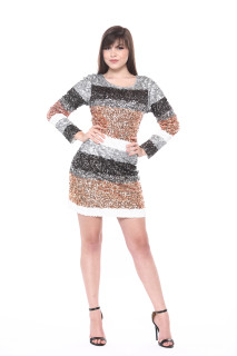 """Shine Bright"" Multicolor Sequin Dress"