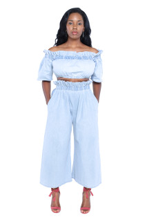 Sofia Denim Culottes Set