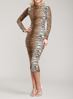 Yara Animal Print Dress