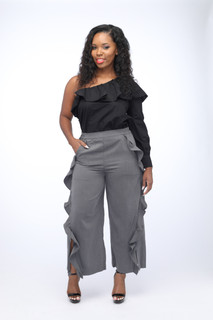 Gracie Ruffle Crop Pants
