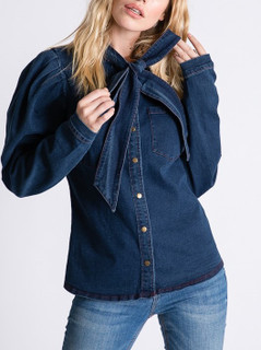Vida Dark Denim Top