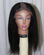 Anila Hair Coarse Kinky Straight U-Part Lace Front Custom Order