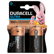 Duracell D Ultra Power Alkaline Batteries (LR20, MX1300). 2 Pack