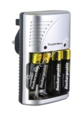 Lloytron compact mains battery charger B1502 for AA and AAA rechargeable batteries