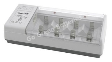 LLoytron Universal charger for AA, AAA, C, D and 9v PP3 sized rechargeble NiMH batteries