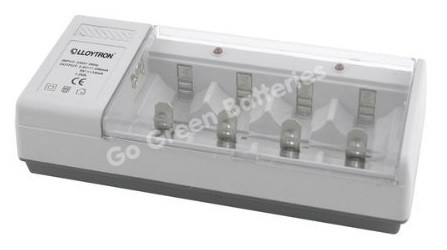 LLoytron Universal Charger for AA, AAA, C, D & 9V Batteries on