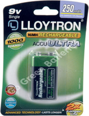 LLoytron 9 volt 250 mAh pp3 rechargeable battery