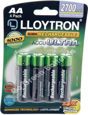 LLoytron AA 2700 mAh NiMH Rechargeable Batteries. 4 Pack
