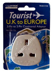 Lloytron UK to Europe Travel Adaptor Plug