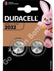 Duracell CR2032 3V Lithium Coin Cell Battery. 2 Pack
