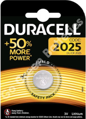 Duracell CR2025 3V Lithium Coin Cell Battery (DL2025). 1 Pack