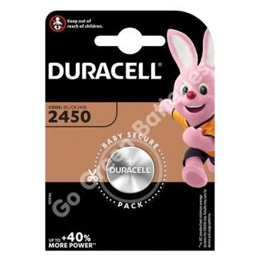 Duracell CR2450 3V Lithium Coin Cell Battery (DL2450)