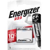 Energizer 223 6 Volt Lithium Ultra Photo Battery (CR-P2 DL223). 1 Pack