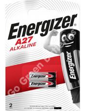 Energizer A27 12 Volt Alkaline Security Battery (MN27). 2 Pack