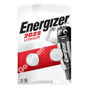 Energizer CR2025 3 Volt Lithium Coin Cell Battery. 2 Pack