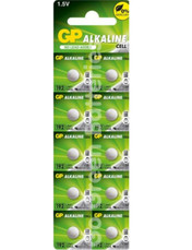 GP LR41 1.5 Volt Alkaline Battery. 10 Pack