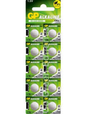 GP LR44 1.5 Volt Alkaline Battery. 10 Pack