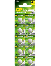 GP LR54 1.5 Volt Alkaline Battery. 10 Pack