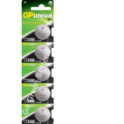 GP CR2450 3 Volt Lithium Coin Cell Battery. 5 Pack