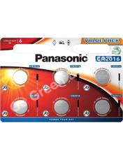 Panasonic CR2016 3V Lithium Coin Cell Battery. 6 Pack