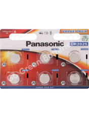Panasonic CR2025 3 Volt Lithium Coin Cell Battery. 6 Pack