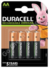Duracell AA 2500 mAh NiMH Rechargeable Batteries