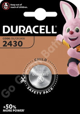 Duracell CR2430 3V Lithium Coin Cell Battery (DL2430)