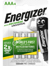 Energizer AAA 500 mAh NiMH Universal Rechargeable Batteries