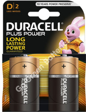 Duracell D Size Plus Power Alkaline Batteries (LR20). With Duralock Power Preserve.