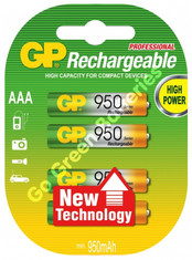 GP AAA 950 High power rechargeable batteries