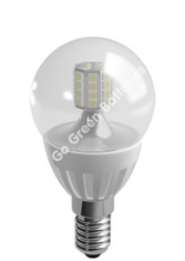 Duracell E14 3.7 Watt Mini Globe LED Bulb. 275 Lumens (Clear/Warm White)
