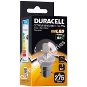 Duracell B22 3.7 Watt Mini Globe LED Bulb. 275 Lumens (Clear/Warm White)