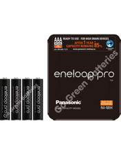 Panasonic Eneloop AAA 930 mAh Rechargeable Batteries, Pre-charged, Previously Sanyo. SLIDER 4 Pack