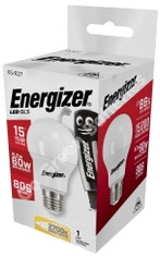 Energizer E27 8.2 Watt GLS LED Bulb. 806 Lumens. Equivalent - 60W (Opal/Warm White)