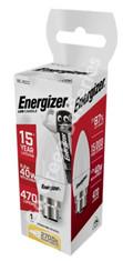 Energizer B22 5.2 Watt Candle LED Bulb. 470 Lumens S8850