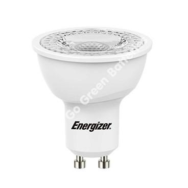 Energizer GU10 6.2 Watt LED Spotlight. 425 Lumens. Equivalent - 60W (Clear/Cool White) S9406