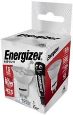 Energizer GU10 6.2 Watt LED Spotlight. 425 Lumens. Equivalent - 60W (Clear/Cool White)
