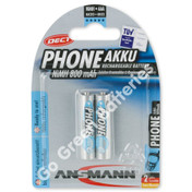 Ansmann AAA 800 mAh RTU Stay Charged NiMH Rechargeable Batteries  2 Pack