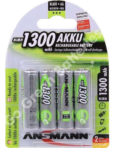 Ansmann-AAA-1300-Rechargeable-Batteriesx4