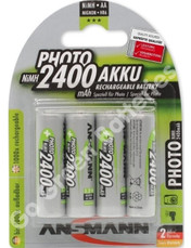 Ansmann AA 2400 mAh NiMH Rechargeable Batteries 4 Pack