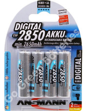Ansmann AA 2850 mAh NiMH Rechargeable Batteries 4 Pack