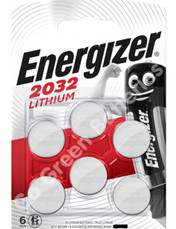 Energizer CR2032 3 Volt Lithium Coin Cell Battery. 6 Pack