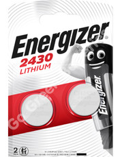 Energizer CR2430 3 Volt Lithium Coin Cell Battery. 2 Pack