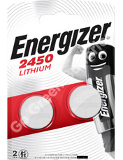 Energizer CR2450 3 Volt Lithium Coin Cell Battery. 2 Pack