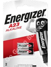 Energizer A23 12 Volt Alkaline Security Battery (23A, MN21, LRV08). 2 Pack