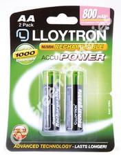 Lloytron AA 800 mAh Batteries. 2 pack