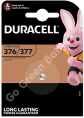 Duracell 377 1.5V Silver Oxide watch battery